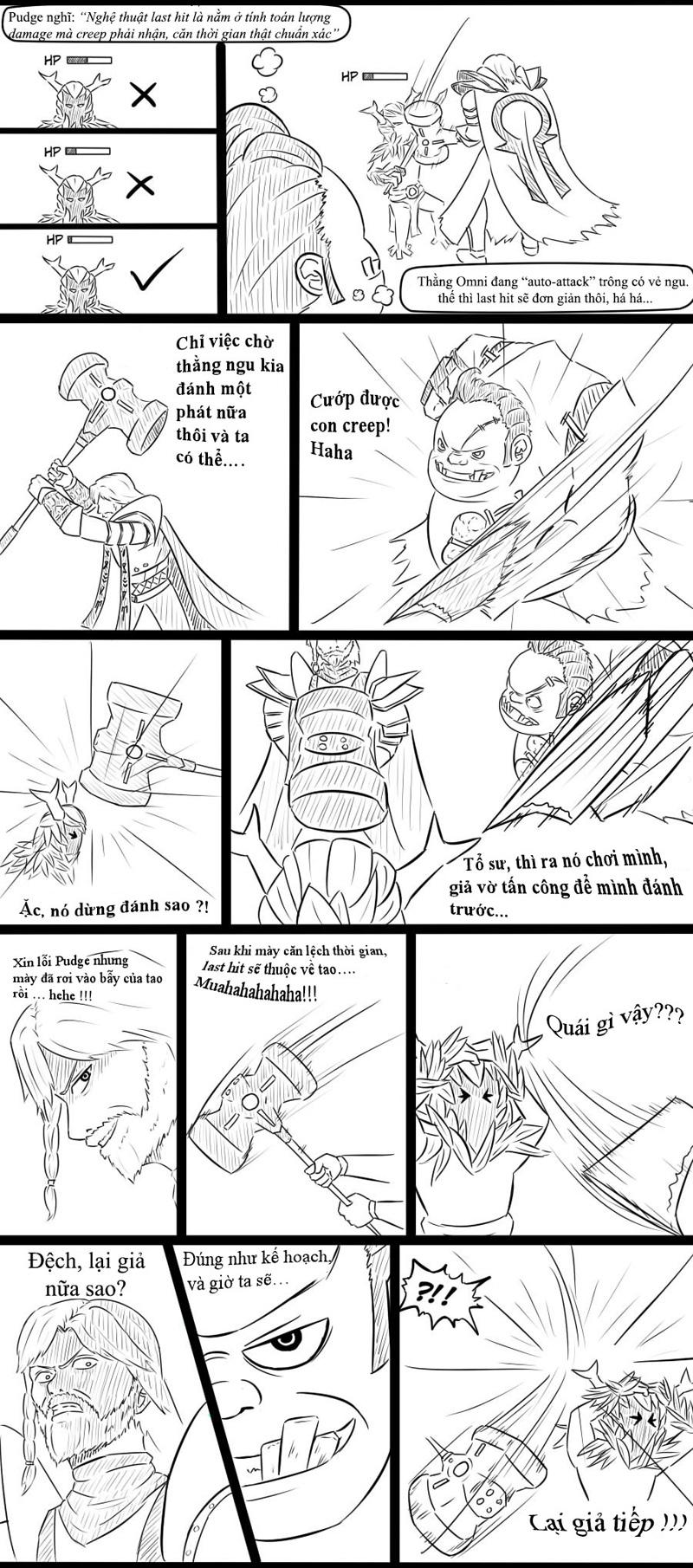 Comic: Nghệ thuật last hit trong Dota 2