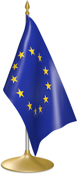 European table flags - desk flags