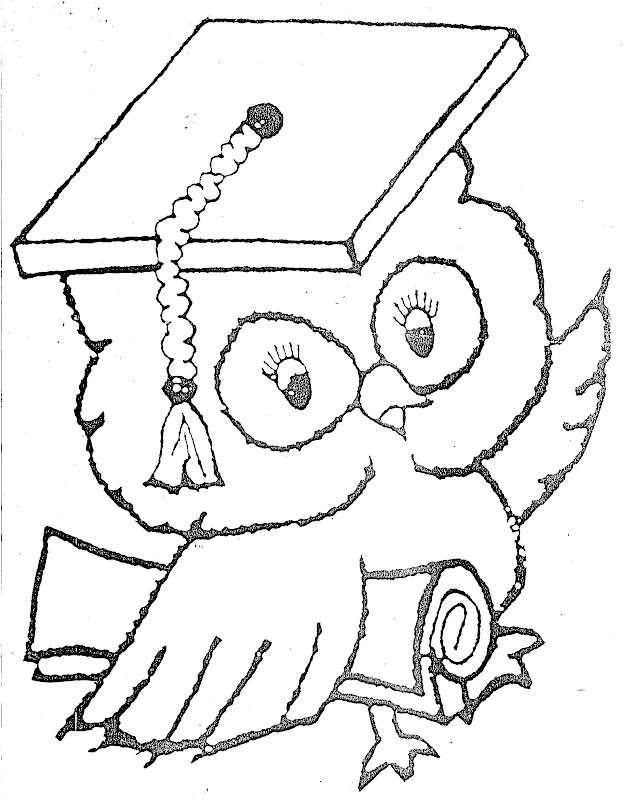 School Owl Coloring Page Graduate Owl – Free Coloring
