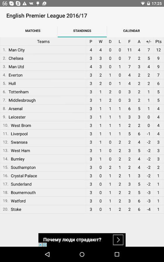 English Premier League 2017/18- screenshot