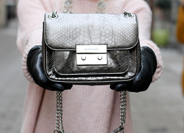 michael kors sloan gunmetal bag