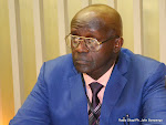 Pr. Raphaël Nyabirungu Mwene Songa le 27/04/2015 à Kinshasa, lors d'une conférence de presse. Radio Okapi/h. John Bompengo