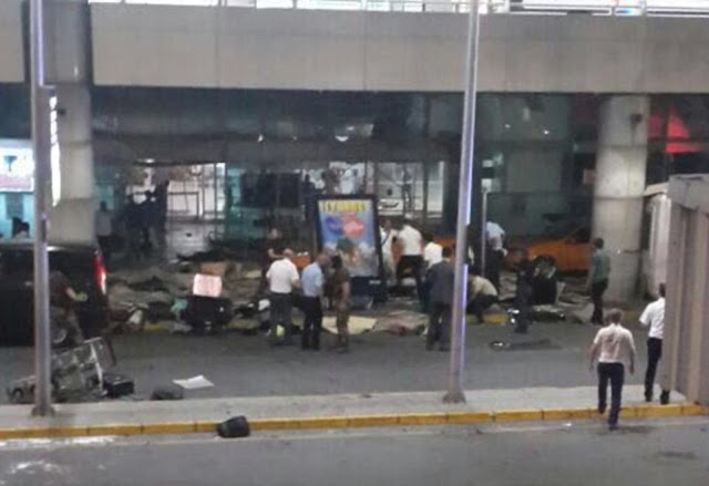 Video: moment terrorist bomb rips through Istanbul airport