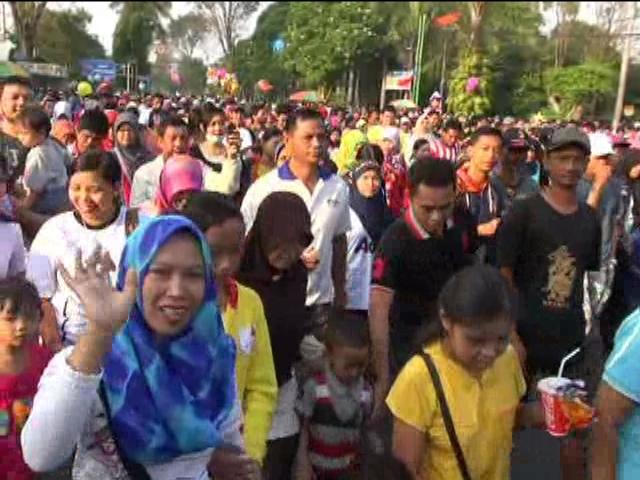 May Day, Ribuan Buruh di Jombang Pilih Jalan Sehat