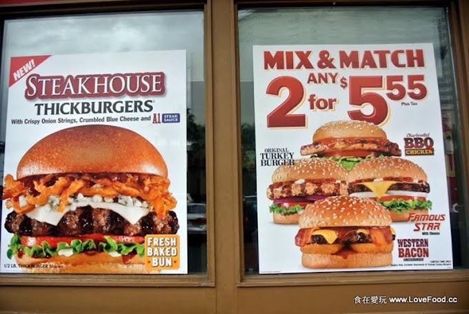 美國加州【Carl's Jr.】划算的2個漢堡$5.55