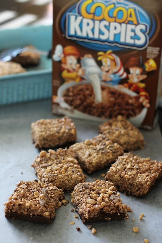 crunchy brownies with cocoa krispies