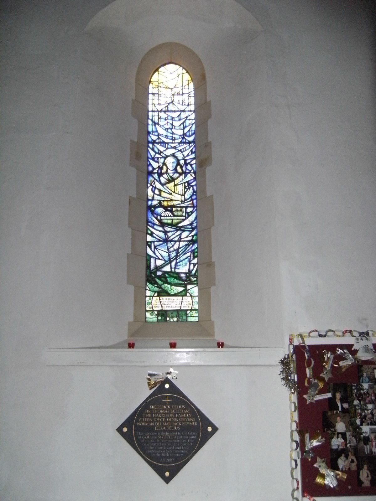 DSCF0021 St Cecilia window, Limpsfield church