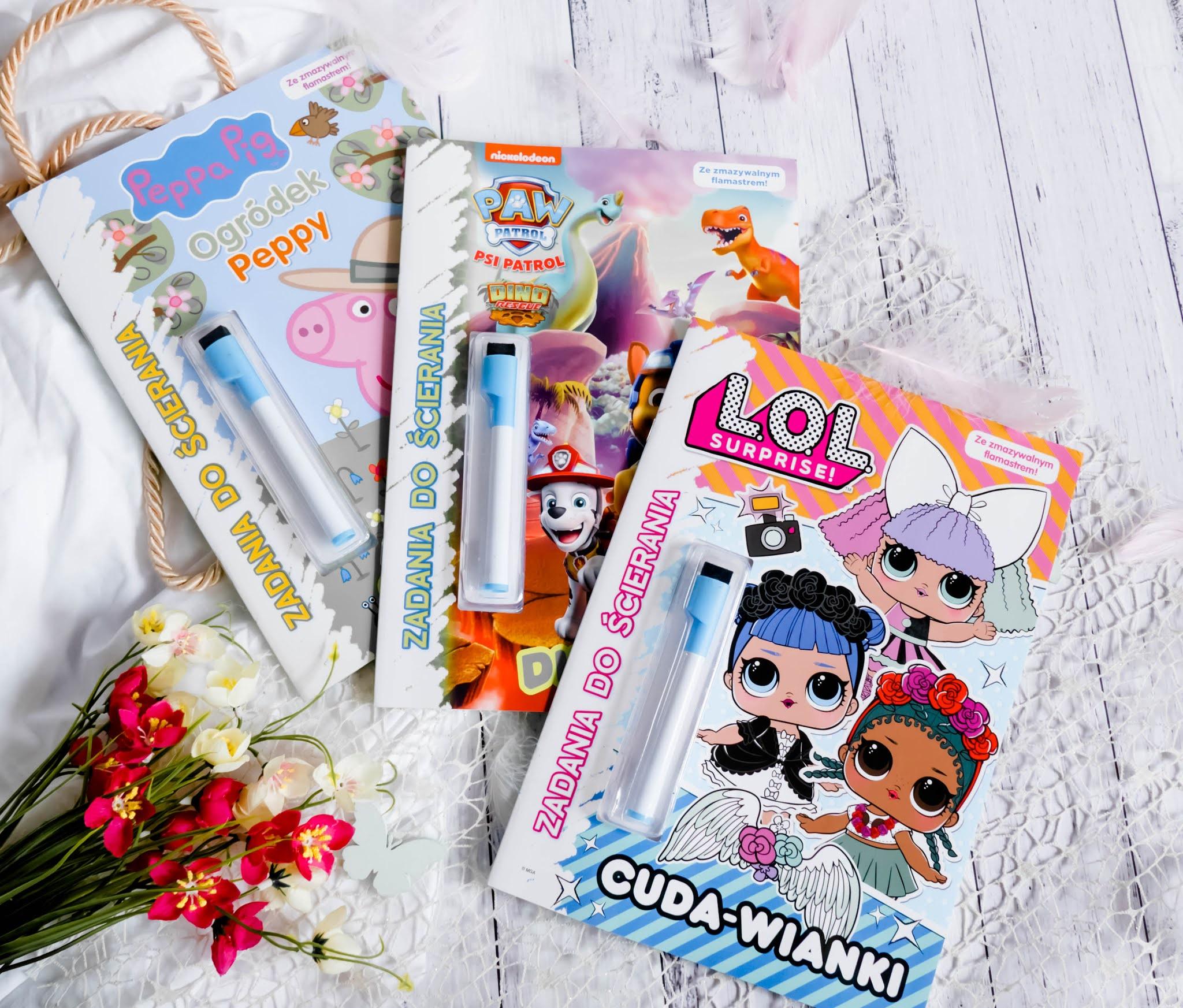Książeczki z zadaniami dla dzieci wielokrotnego użytku