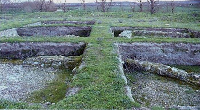 Villa romana tras la excavación