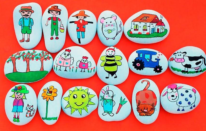 piedras-ilustradas-pintadas-contar-cuentos-personajes-diy-manualidades-niños