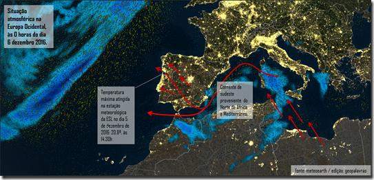 Situação atmosférica na Europa dezembro 2016