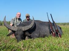 Mr Neale, USA with a big bodied floodplain bull with a good rack!