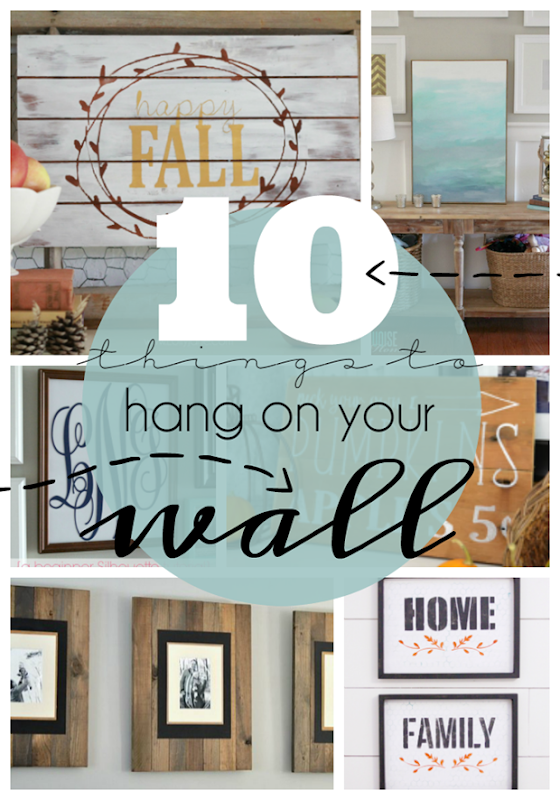 10 Things to Hang on Your Walls at GingerSnapCrafts.com #forthehome #DIY #gingersnapcrafts