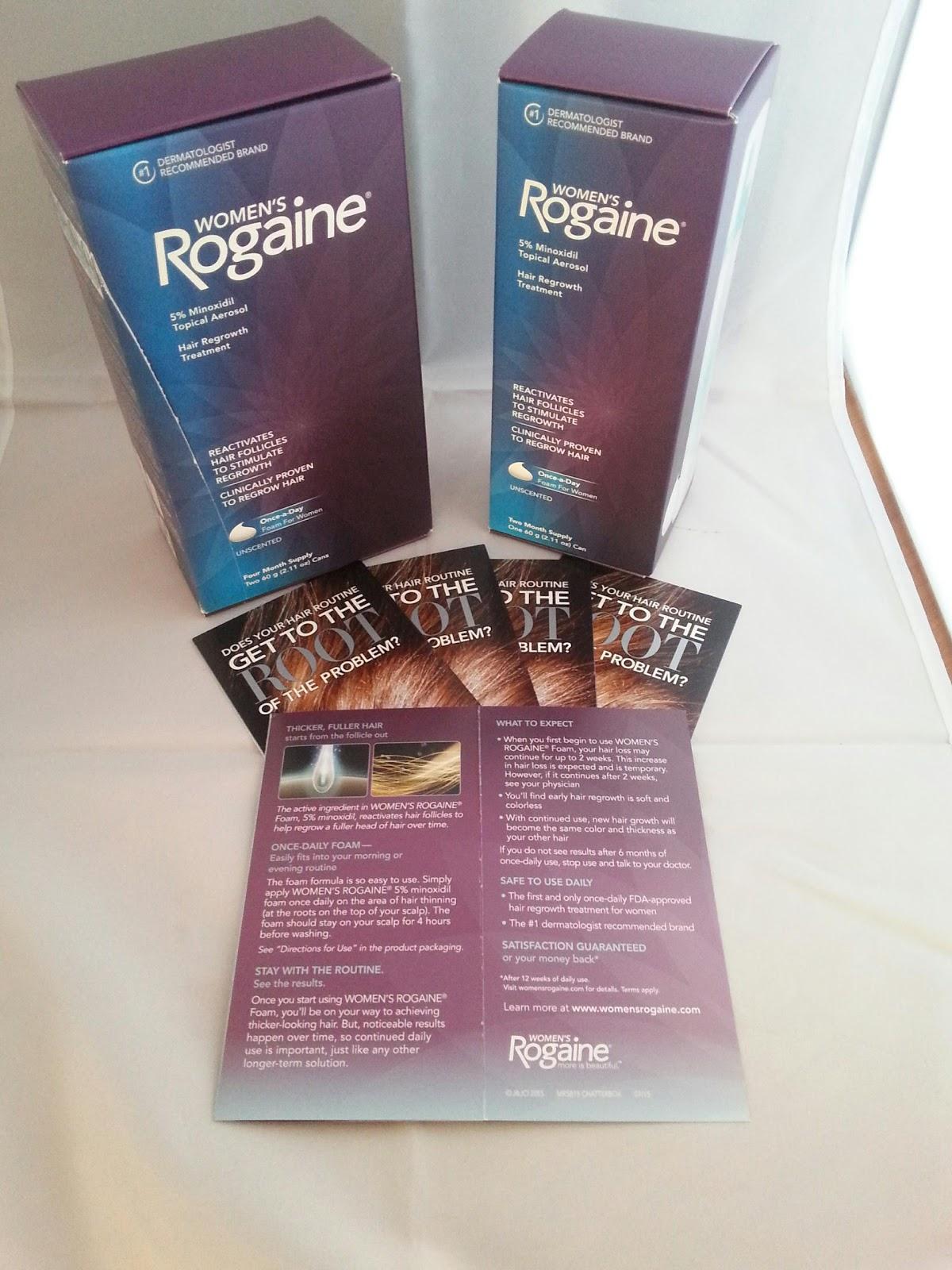Women39s Rogaine Chatterbox Foam Minoxidil Topical Aerosol Womens