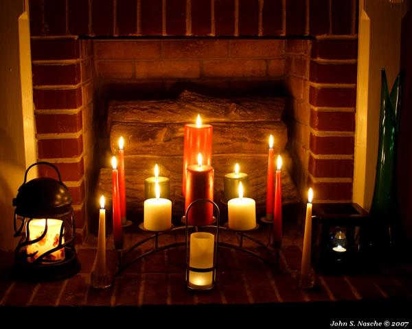 Candles And Fireplace, Candle Magic
