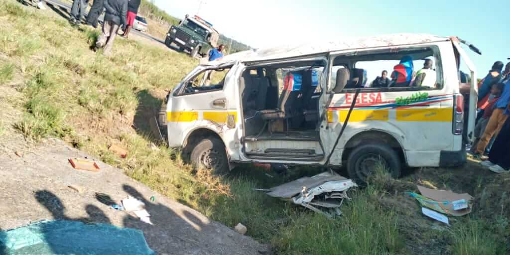 The matatu photo on the accident scene. PHOTO |RMS