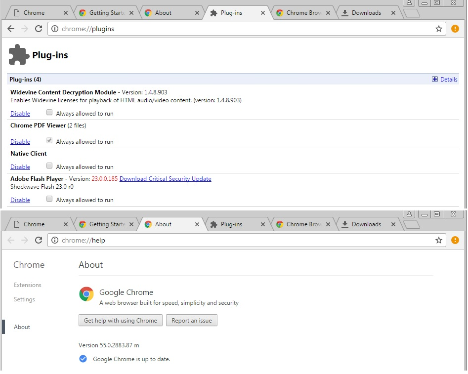 Manual Download Google chrome Beta 64 bits