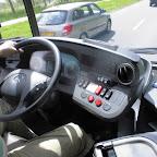 Het dashboard van de Mercedes Citaro