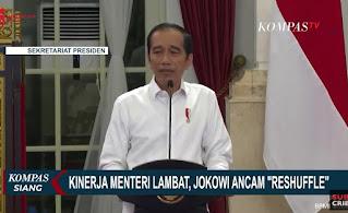 Sumber Foto: Pinterest Pidato saat Jokowi memimlin rapat kabinet dengan para mentri-mentrinya
