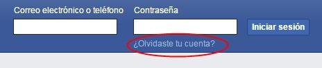 Olvidaste tu cuenta de Facebook