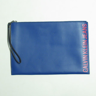 Calvin Klein Jeans Leather Zipper Pouch