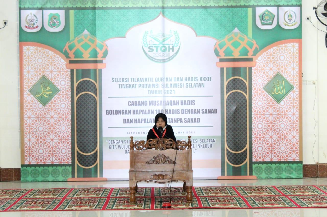 Memasuki Hari Pertama Lomba Di ajang Seleksi Tilawatil Qur'an Dan Hadits (STQH) Ke-XXXII Tingkat Propinsi Sul-Sel Di Kabupaten Sidrap