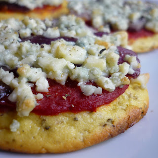 Blue Cheese Mini Pizzas