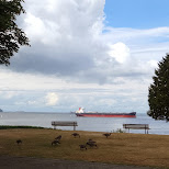 tankers in the English Bay of Vancouver in Vancouver, British Columbia, Canada