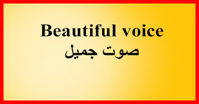 Beautiful voice صوت جميل