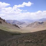 Le vallon d'Ayu Keziu, 4100 m (40 km à l'Est de Murghab), 25 juillet 2007. Photo : Jean Michel