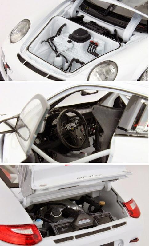 Mô hình Porsche 911 GT3 Cup tỷ lệ 1/18 mở được cánh cửa, cốp và nắp capo