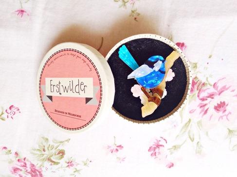 Erstwilder Fairy Wren Brooch | Lavender & Twill