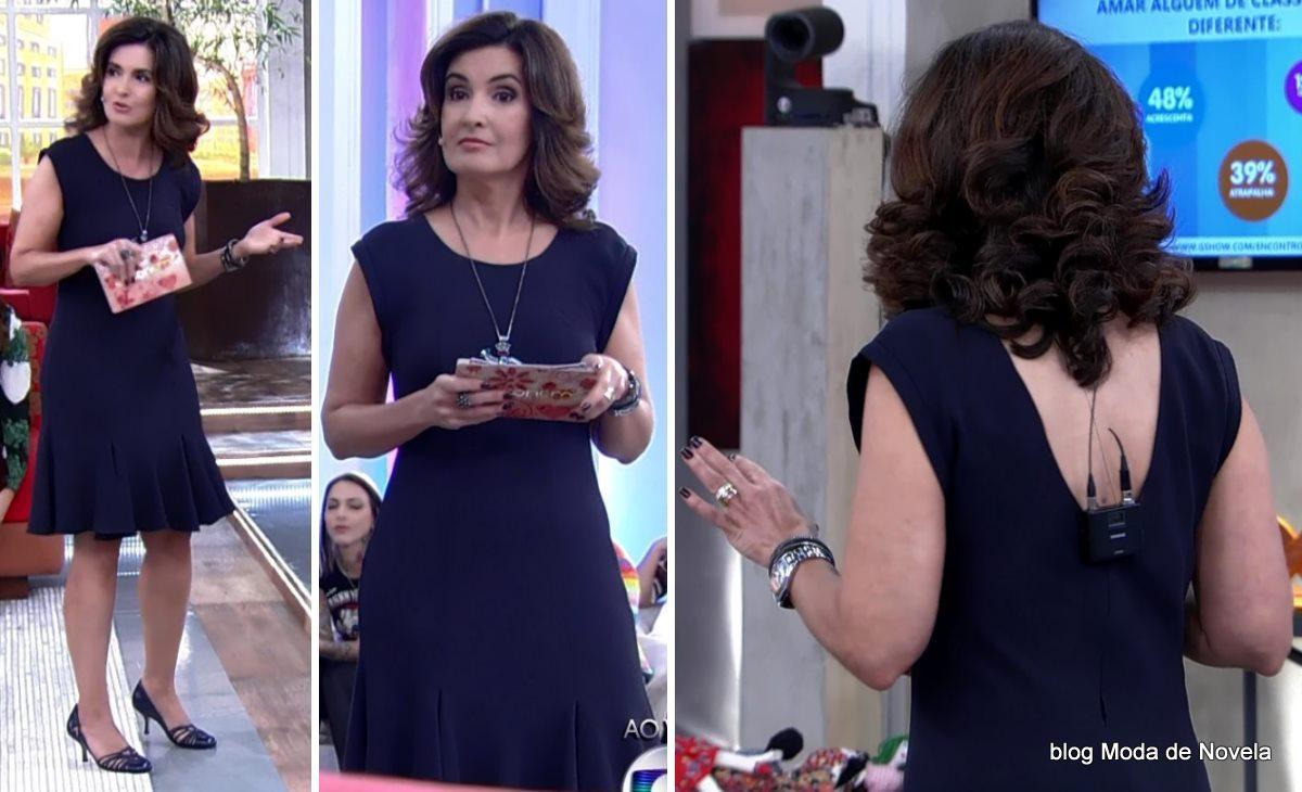 moda do programa Encontro - look da Fátima Bernardes dia 19 de maio
