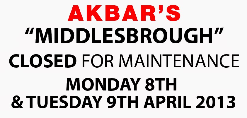 middlesbrough is closed on the 8th 9th April
