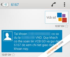 Hướng dẫn kiểm tra số dư tài khoản ATM Vietcombank tại nhà