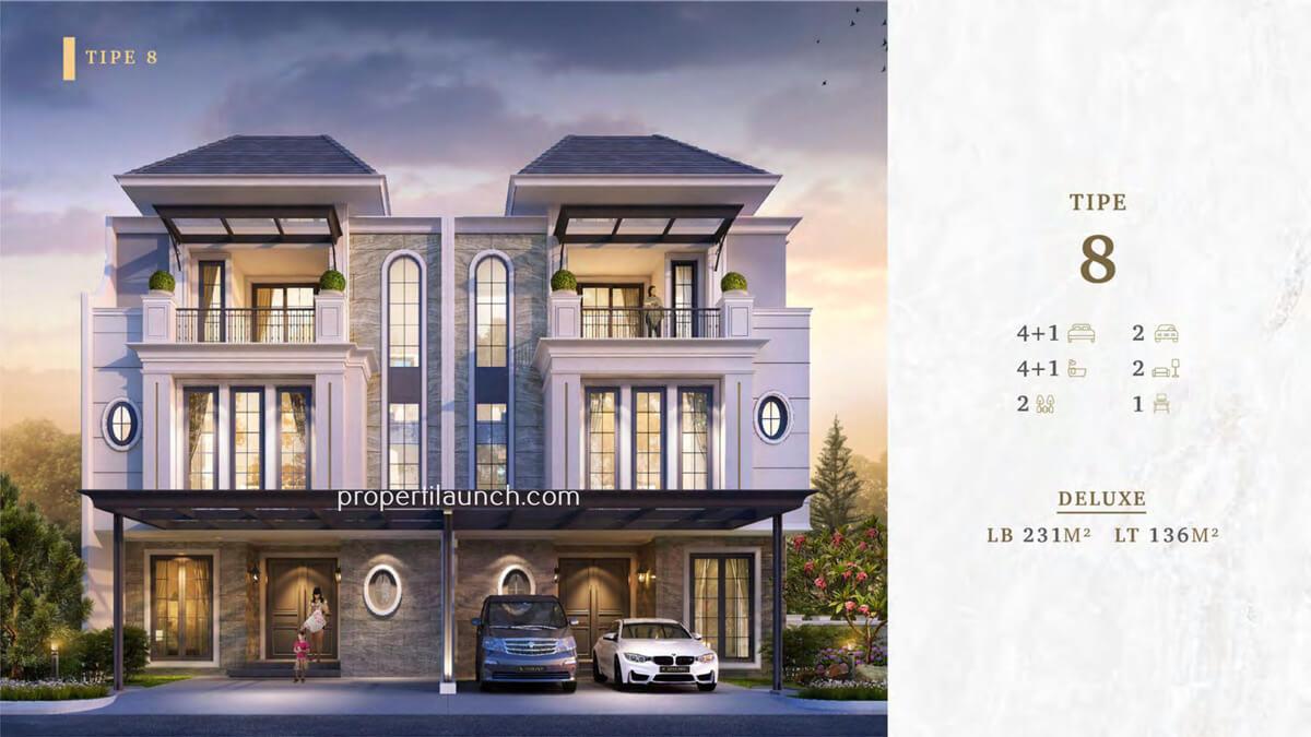 Rumah Bukit Podomoro Jakarta Tipe 8