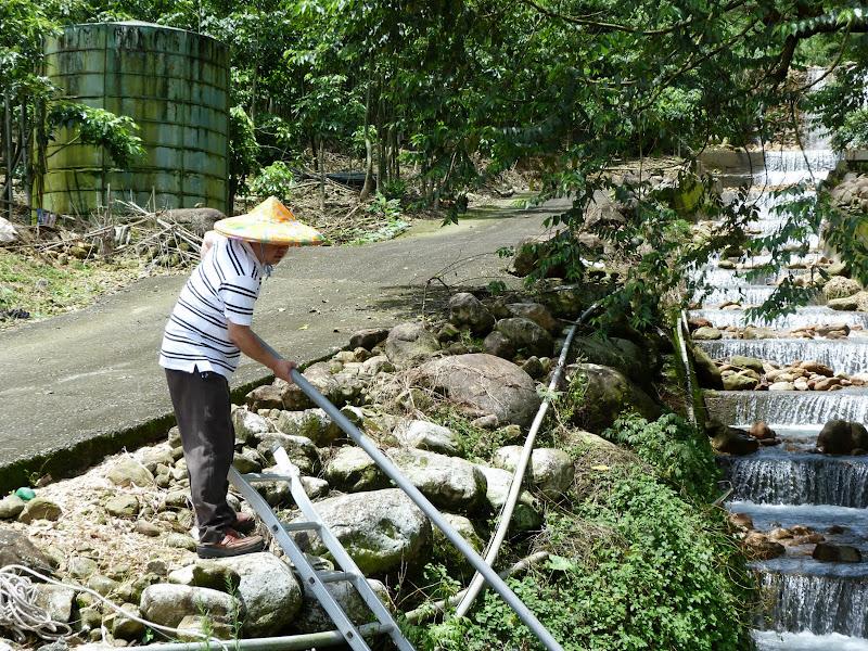Réparations après le typhon