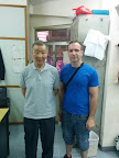 Grandmaster Ip Ching with Andy Cunningham at the Wing Tsun Athletic Association.