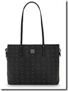 MCM coated canvas reversible tote bag