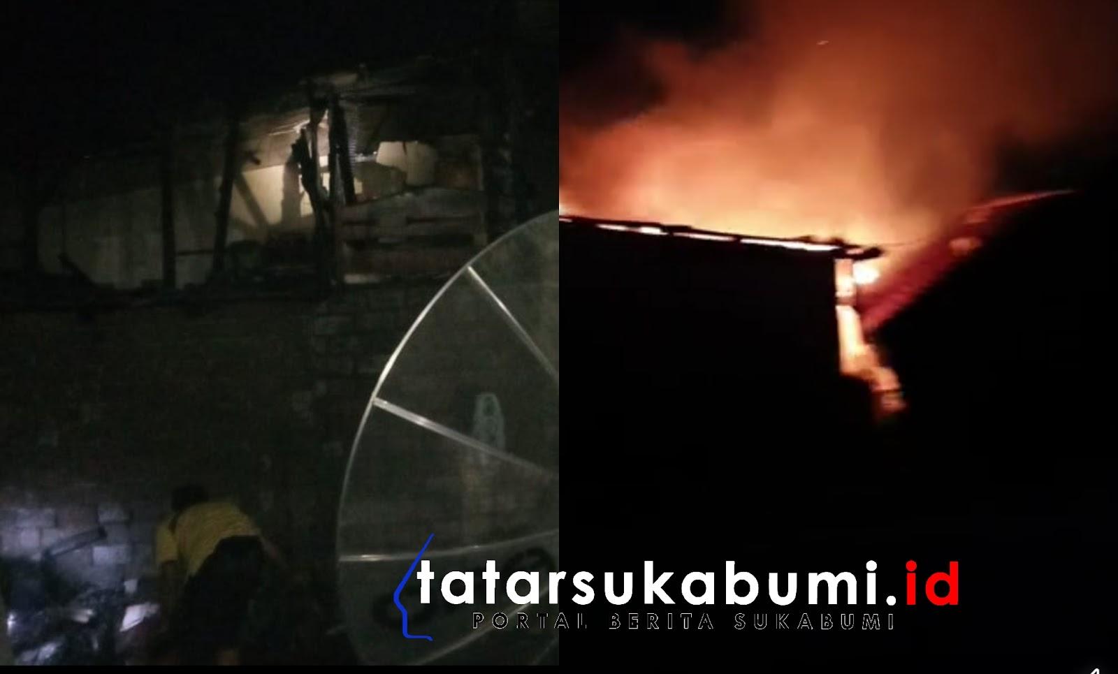 4 Rumah 3 Motor Hangus Terbakar di Sukabumi