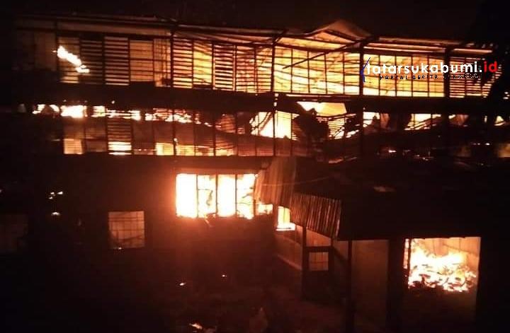 Pabrik Teh PTPN VIII Goalpara Sukabumi Terbakar