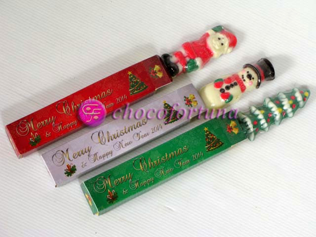 Cokelat Pretzel Natal Custom Packaging