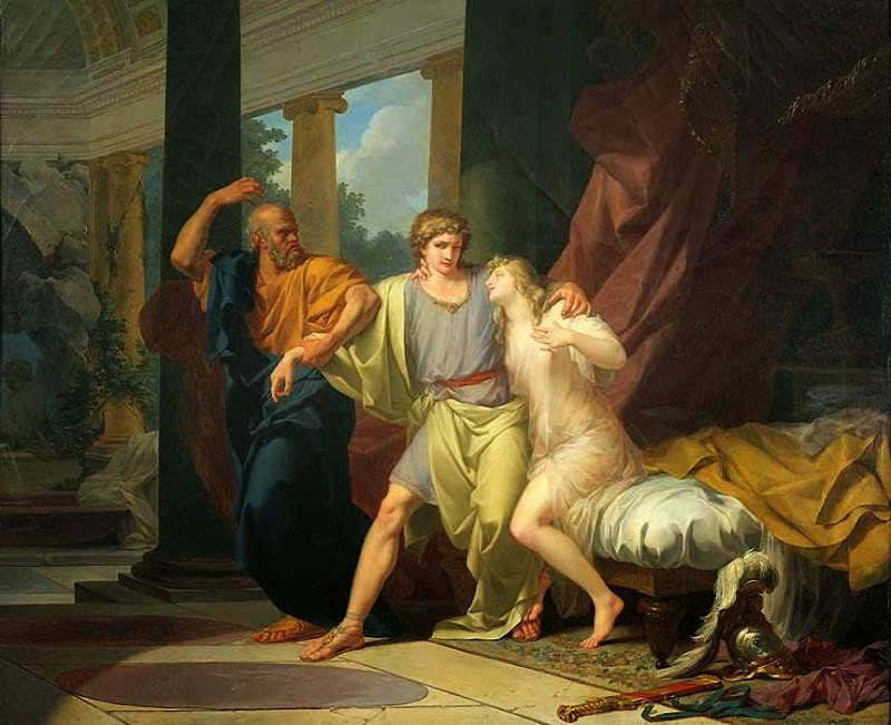 Jean-Baptiste Regnault - Socrates Dragging Alcibiades from the Embrace of Aspasia