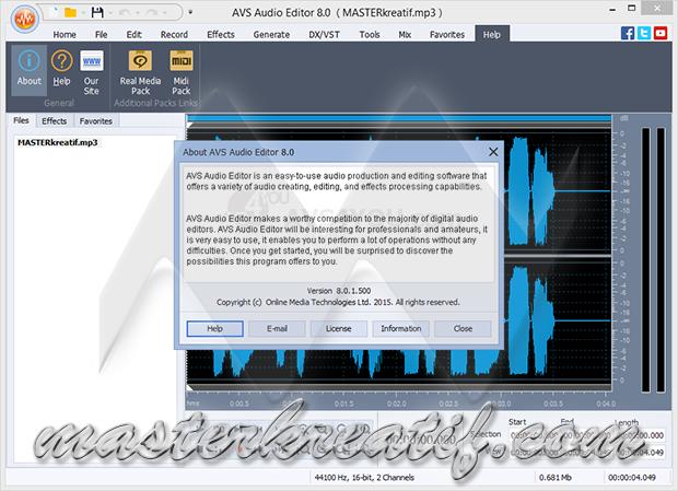 AVS Audio Editor 8.0