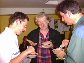 Photo: Mark Jones, Peter Richmond and Richard with chilli con carne 2010 Wiltshire Quickplay Tournament Brown Jack 6th September 2010