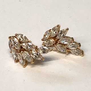 14K Gold & CZ Earrings