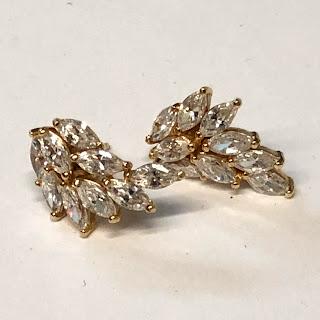 14K Gold & CZ Earrings