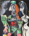 Pablo Picasso: Matador meztelen nővel, 1970 vászon, olaj, 162 x 130 cm  (Fotó: © Ludwig Múzeum – Kortárs Művészeti Múzeum, Budapest (Peter és Irene Ludwig adománya, 1989) fotó: Rosta József / Ludwig Múzeum – Kortárs Művészeti Múzeum  © 2016 – Succession Pablo Picasso – HUNGART)