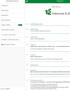 HSG Alumni Forum screenshot 2