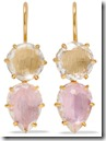 Larkspur and Hawk Gold Dipped Quartz Earrings